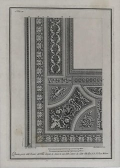 Ceiling designs. A set of three architectural engravings.
