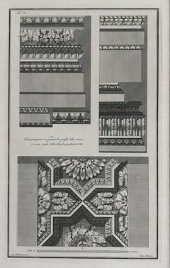 Architectural designs. A set of nine architectural engravings.