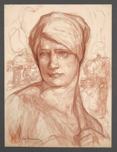 Study of a peasant woman.