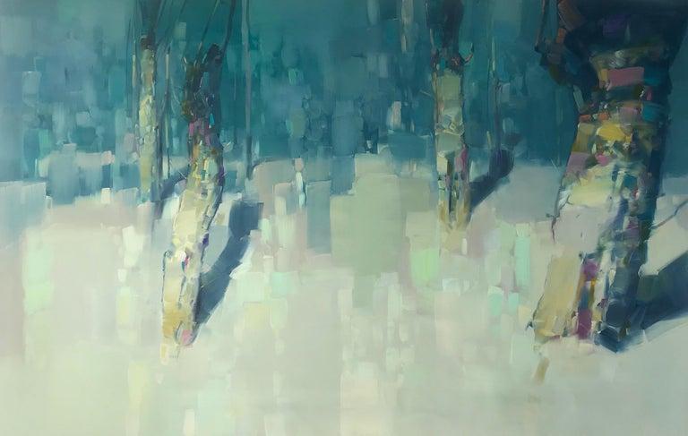 Vahe Yeremyan Landscape Painting - Moon Trees