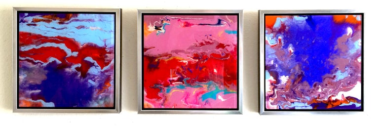 Framed Dance - Pink Landscape Painting by Vahe Yeremyan