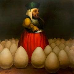 The Dream a Marcos, Figurative Surrealism, Original oil Painting