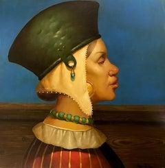 Muse, Portrait, Original oil Painting