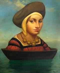 Portrait, Surrealism Original oil Painting