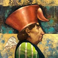 Portrait, Surrealism, Original oil Painting