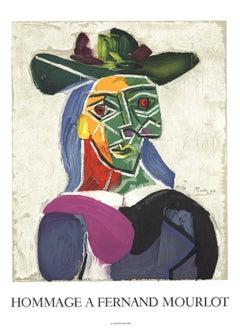 """Pablo Picasso-Portrait of Dora Maar-29.5"""" x 21.5""""-Lithograph-1993-Cubism"""