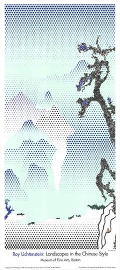 Landscape with Philosopher - Roy Lichtenstein 1995 Silk Screen Museum Poster -