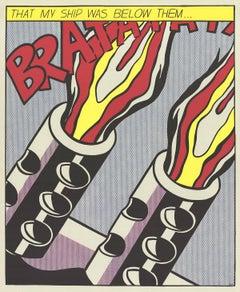 """Roy Lichtenstein-That My Ship Was Below Them (Panel 3)-25"""" x 20""""-Poster-1964-Pop"""