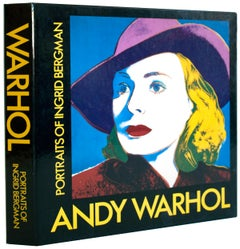 "Andy Warhol: Portraits of Ingrid Bergman-9.5"" x 9.5""-Book-1983-Pop Art"