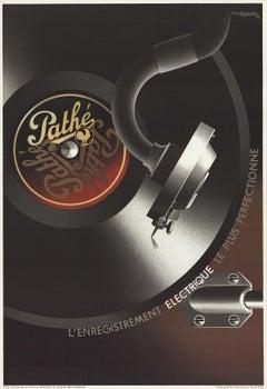 """A.M. Cassandre-Pathe-39.75"""" x 27""""-Lithograph-1981-Vintage-Black & White, Brown"""