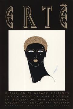 "Queen of Sheba-30"" x 20""-Poster-1979-Art Deco-Black & White, Brown"