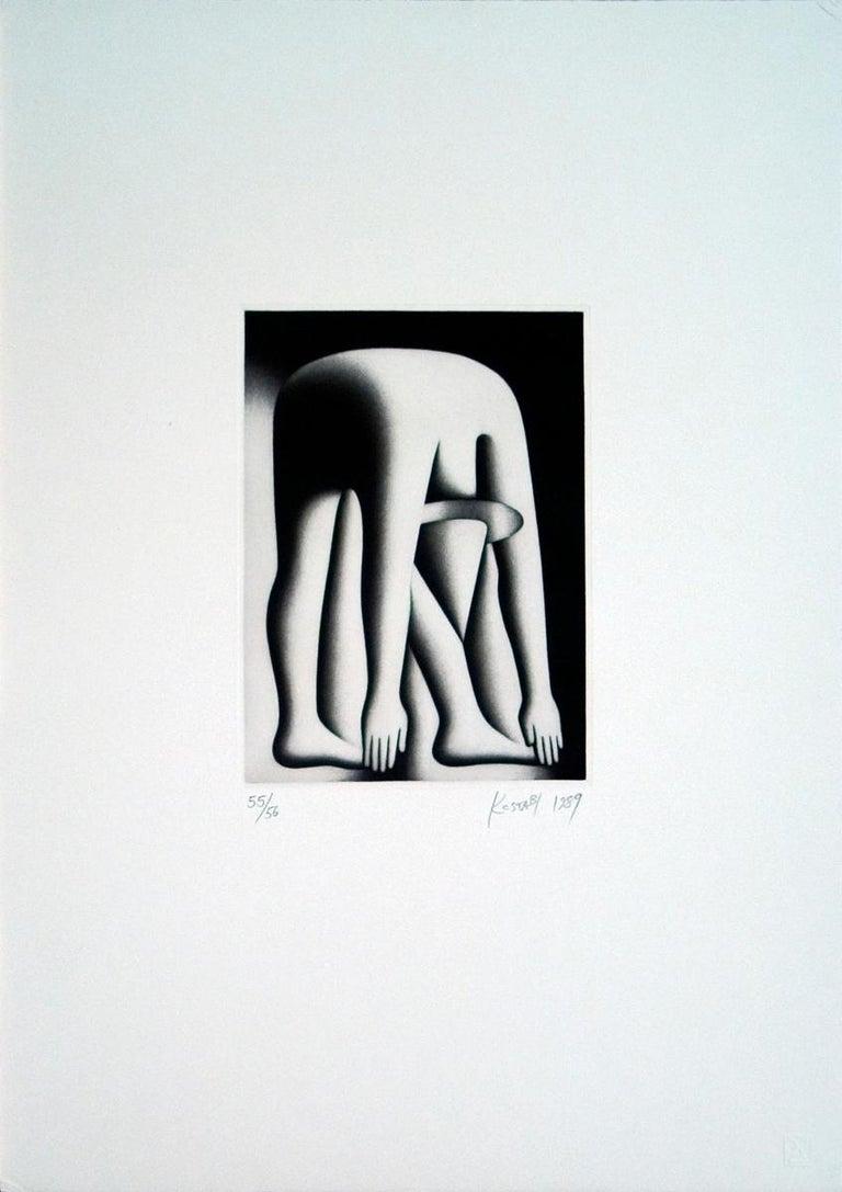 Mark Kostabi Figurative Art - Body by the Jake, 1989