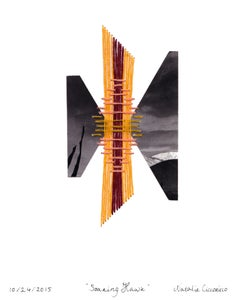 Soaring Hawk - Mixed Media Collage Bird Representation