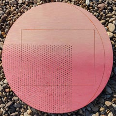 What The Desert Revealed - Contemporary Geometric  (Rose Gold + Pink + Red)