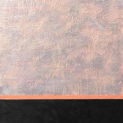 """Twilight"" - Encaustic Painting in Grey, Blue, Black, Pink, w/ Smooth & Texture"