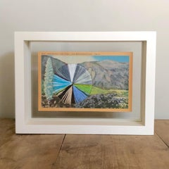 """Yucca and Arrowhead"" - Embroidered California Landscape with Flowers"