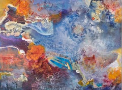 Dreams without Pictures - Stunning Abstract Painting in Blue, Orange + Purple