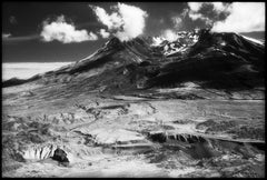 Mount St. Helens - Black & White Infrared Photograph of the Rocky Mountains