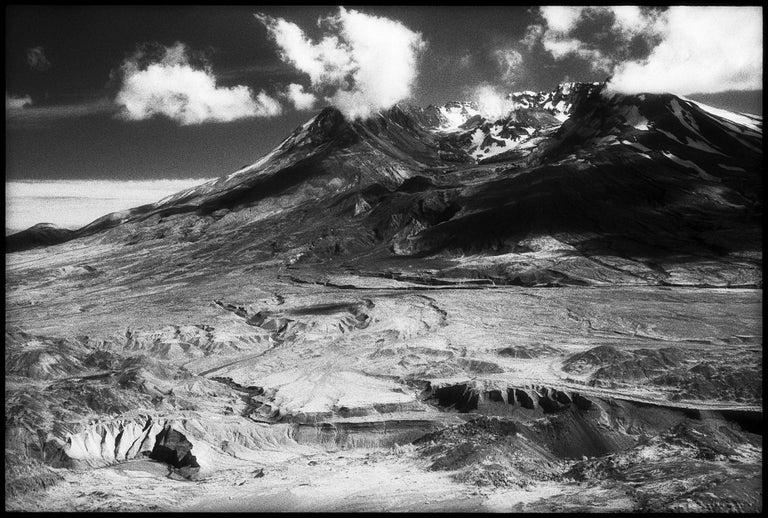 Edward Alfano Black and White Photograph - Mount St. Helens - Black & White Photograph of the Rockies Mountain