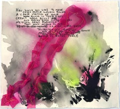 How Would You Like To Have- Mixed Media Text Based Abstract Work on Paper