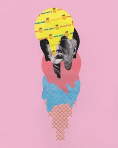 Private Pineapple - Collage of Film Noir Actor as Ice Cream Cone