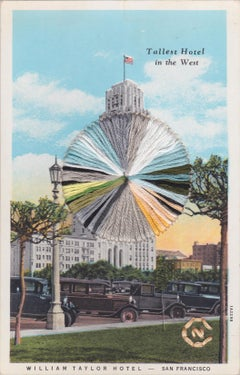 Tallest Hotel in the West- Vintage Postcard of San Fransisco Hotel with Thread