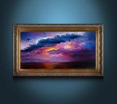 Red Sunset - Beautiful Pink + Purple + Orange Seascape Sunset