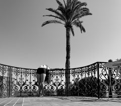 Self-Reflection No. 2 - Photograph of Female Form and Palm Tree Black+White 1
