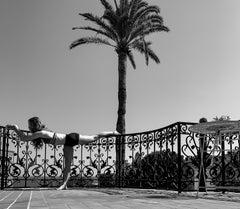 Self-Reflection No. 4 - Female Figure + Landscape in Black & White