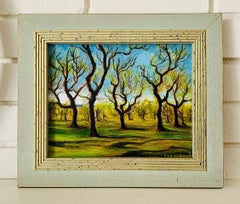 Spring in Central Park - Impressionist Style Landscape Painting of Trees