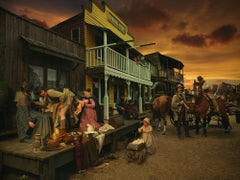 Born of Calamity-  Staged Photograph of Wild West + Calamity Jane