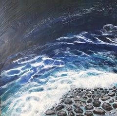 Storm Surge - Ocean Landscape Encaustic Painting