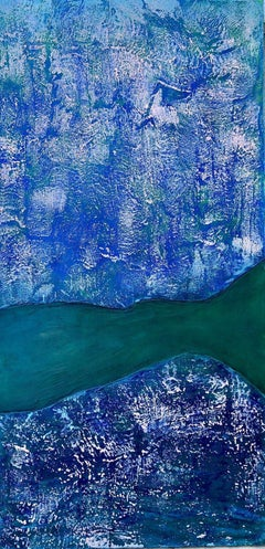 Glow Tide - Large Ocean Landscape Encaustic Painting