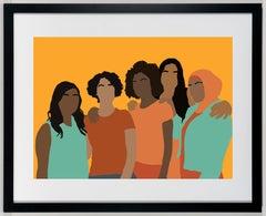 Congregate - Colorful Print of Womanhood / Sisterhood / Women of Color