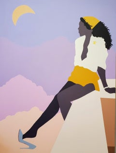 Sitting on the Edge of a Beautiful Night - Giclée Print of Black Women - Surreal