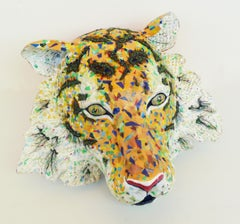 Amur- Sculpture of Endangered Siberian Tiger Created from Up-Cycled Materials