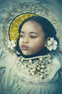 Ancestors Speak...Soft as Cotton 1- Contemporary Portrait of Young Girl