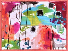 Candy- Contemporary Gestural Dripped Abstract Painting