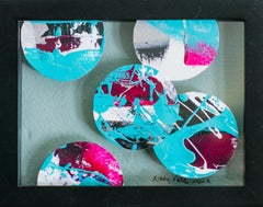 Portholes 6- Colorful Abstract Collage Painting