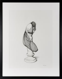 Unveiling IV - Contemporary Figurative Study in Pen + Ink + Graphite Academic