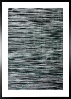 The Breeze Through the Curtains - Contemporary Work on Paper in Black + White