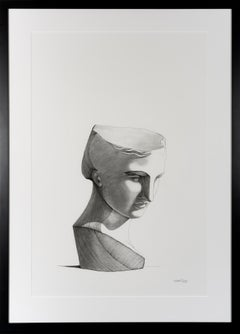 Unveiling III - Contemporary Figure Drawing Still Life Black & White