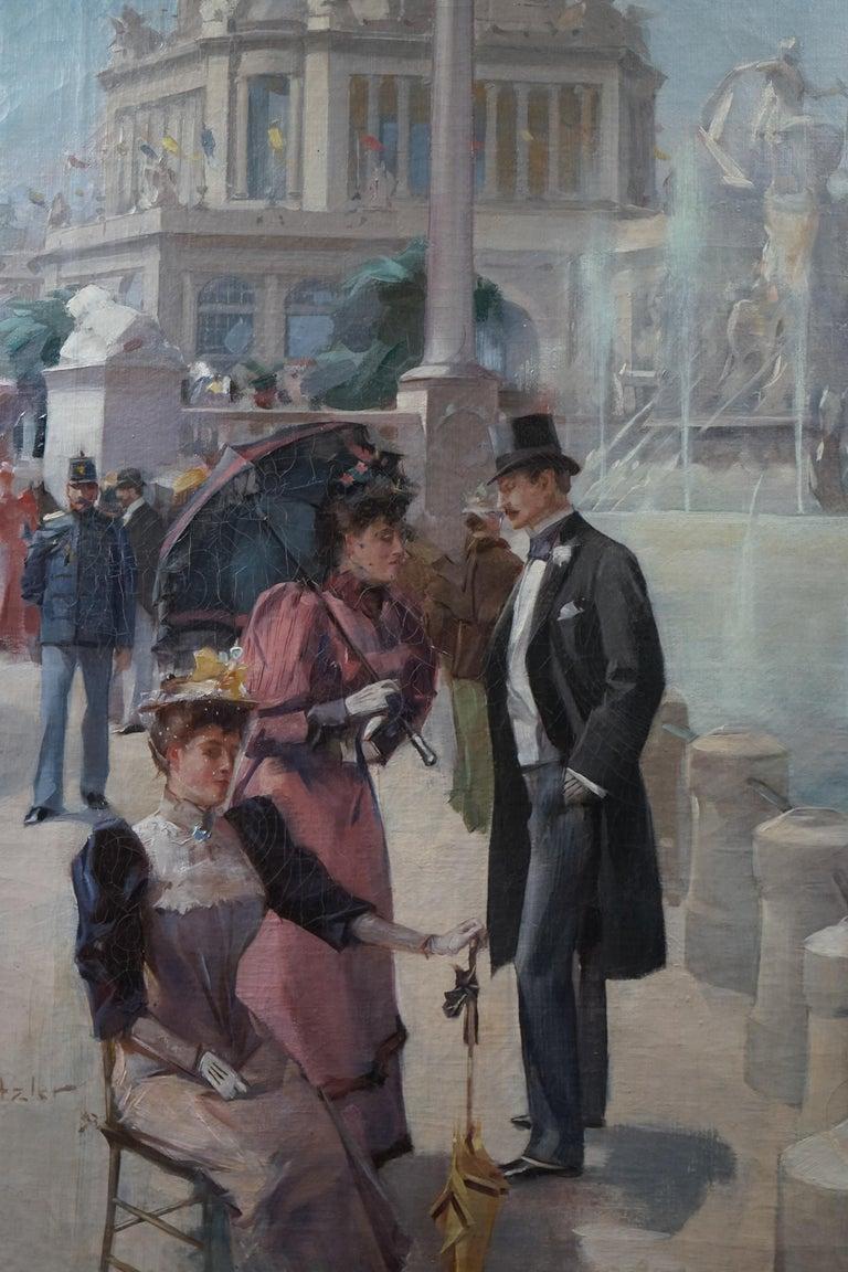 Hugh Ditzler  Figurative Painting - Period American Impressionist World Columbian Expositian Fair 0f 1893