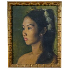 Realist Balinese Indonesian Beauty Princess Portrait of a Girl