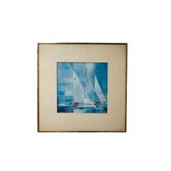 1953 American Geometric Abstract Yachts Racing