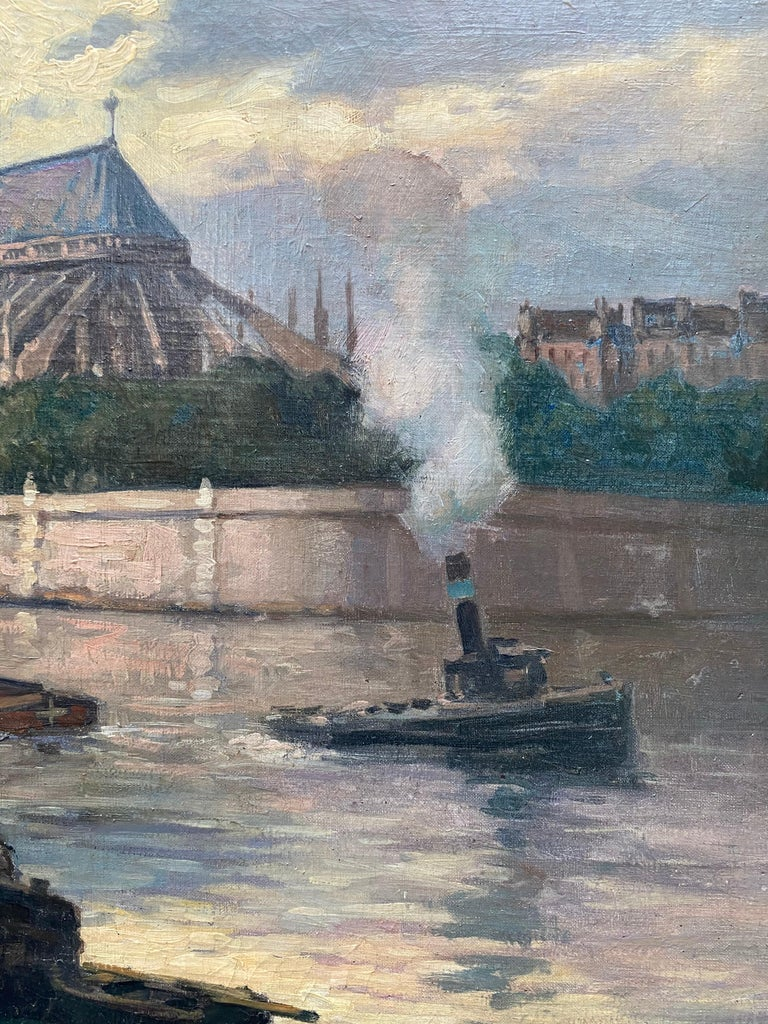 Henri Alphonse Barnoin (1882–1940) was a French painter born in Paris. Well known for his oil paintings, he was also a renowned pastellist, enjoying playing with the effect of light on a variety of scenes in a Post-Impressionist.style. Here we have
