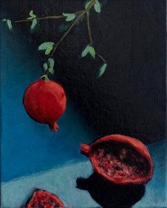 """""""Grenade'"""" Still life oil painting by contemporary artist Nils Benson"""
