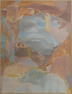 """""""Canyon"""" abstract landscape painting, oil on canvas by Skylar Hughes 2019"""