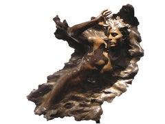 """""""Ex Nihilo Figure 3"""", Frederick Hart, Bronze Sculpture, Figurative Man"""