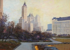 """New York City, What it Was..."", Bogomir Bogdanovic, Oil/Canvas, Impressionism"